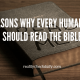 29 Reasons why everyone should read the Bible