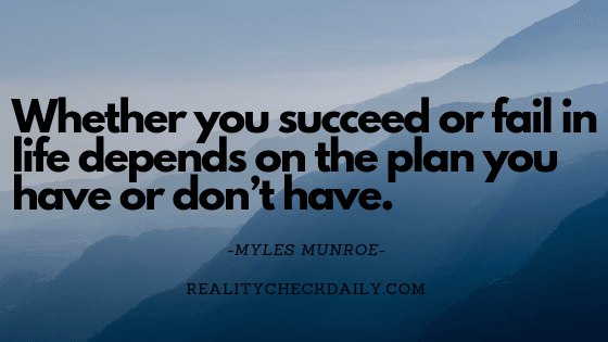 how to succeed or fail in life