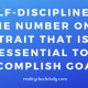 SELF-DISCIPLINE IS CRUCIAL FOR SUCCESS