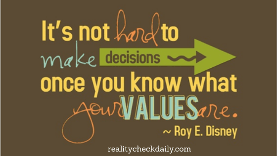 decisions guided by values