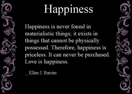 Happiness is Priceless