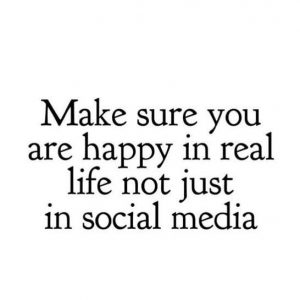 be happy in social media and life