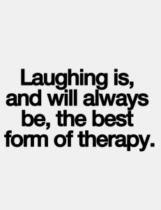 laughter is therapy