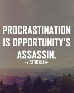 procrastination is an assassin of opportunity