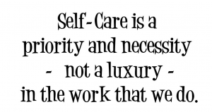 self care is a priority not a luxury