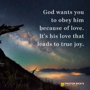 Motivation To Obey God